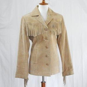 Vintage ESPRIT Suede Fringe Jacket